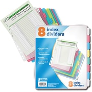 Better Office Products 8 Tab Poly Index
