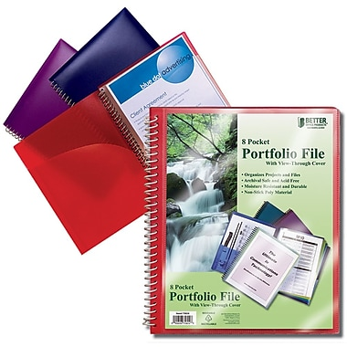 Better Office Products – Porte-documents à 8 pochettes avec page de couverture (75824)