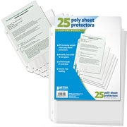 Better Office Products 25 pk Clr Poly Sheet Protectors