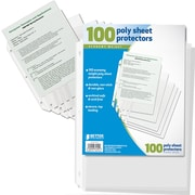 Better Office Products Poly Sheet Protector