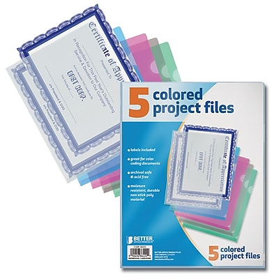 Better Office Products Non-Stick Poly Project Files Letter;  12/Pack