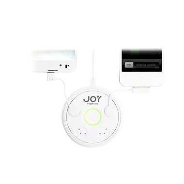 The Joy Factory – Adaptateur d'alimentation Zip Mini Touch-n-Go PAU102 pour iPhone 5, Blanc