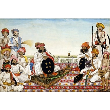 iCanvas Thakur Dawlat Singh Among Courtiers Painting Print on Wrapped Canvas