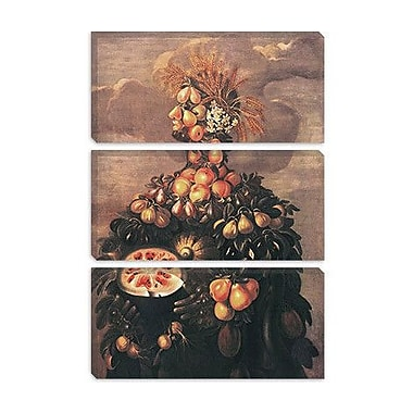 iCanvas 'Summer' by Giuseppe Arcimboldo Painting Print on Wrapped Canvas; 12'' H x 8'' W x 0.75'' D