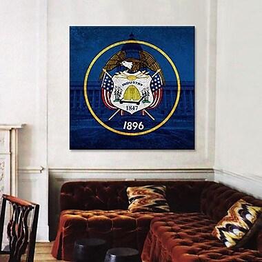 iCanvas Flags Utah Capitol Building Graphic Art on Canvas; 26'' H x 26'' W x 0.75'' D
