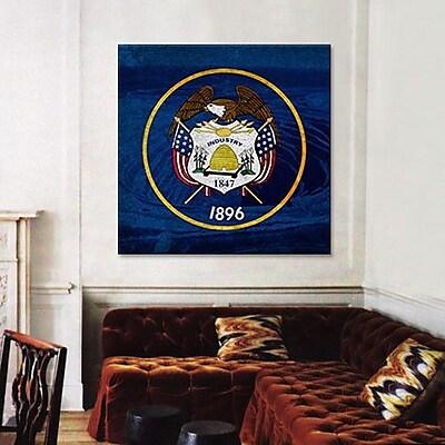 iCanvas Flags Utah Bingham Canyon Mine Graphic Art on Canvas; 26'' H x 26'' W x 0.75'' D