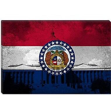 iCanvas Missouri Flag, Grunge State Capitol Graphic Art on Canvas; 8'' H x 12'' W x 0.75'' D