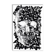 iCanvas Modern Black Splatter Skull Graphic Art on Canvas; 18'' H x 12'' W x 0.75'' D
