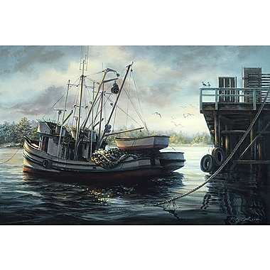 iCanvas ''Sparkling Fish Nets'' by Nicky Boehme Painting Print on Wrapped Canvas