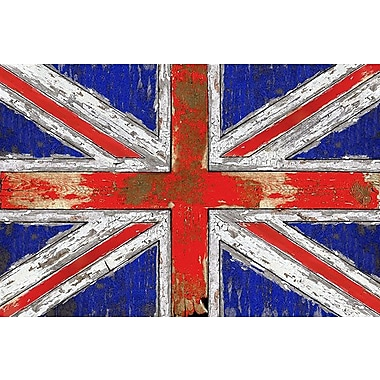 iCanvas 'UK Vintage' Wood Graphic Art on Wrapped Canvas; 18'' H x 26'' W x 1.5'' D