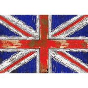 iCanvas 'UK Vintage' Wood Graphic Art on Wrapped Canvas; 12'' H x 18'' W x 0.75'' D