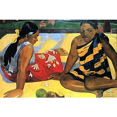 iCanvas 'Two Women Sitting' by Paul Gauguin Painting Print on Wrapped Canvas