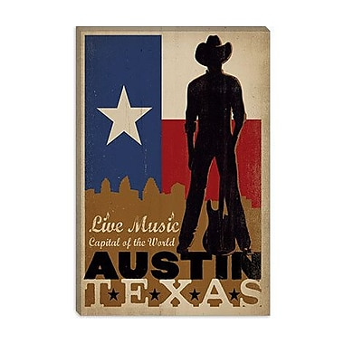 iCanvas Anderson Design Group 'Austin, Texas' Vintage Advertisement on Canvas