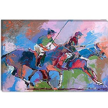 iCanvas 'Polo' by Richard Wallich Painting Print on Canvas; 8'' H x 12'' W x 0.75'' D