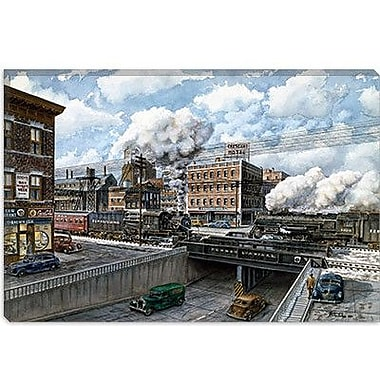 iCanvas 'Penn 6500' by Stanton Manolakas Painting Print on Canvas; 26'' H x 40'' W x 0.75'' D