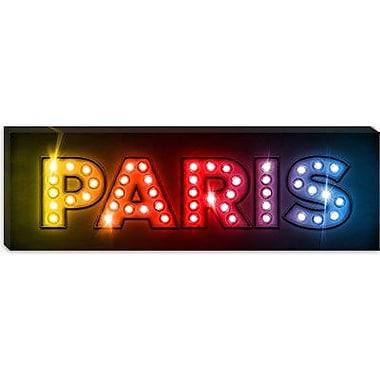 iCanvas 'Paris by Michael Tompsett Textual Art on Canvas; 20'' H x 60'' W x 0.75'' D