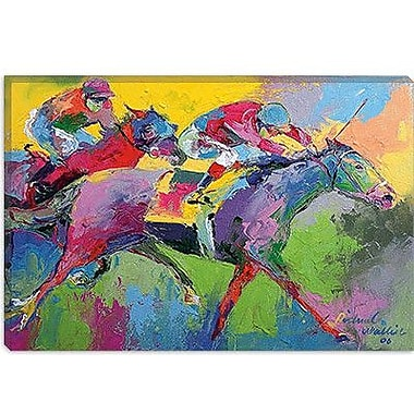 iCanvas 'Furlong' by Richard Wallich Painting Print on Canvas; 26'' H x 40'' W x 0.75'' D