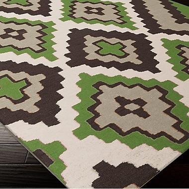 Beth Lacefield Alameda Black & Green Area Rug; 5' x 8'