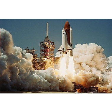 iCanvas Space Shuttle Challanger Lift off (1983) Photographic Print on Wrapped Canvas
