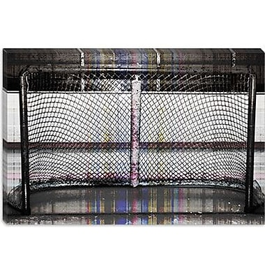 iCanvas Canada Hockey Goal Gate Photographic Print on Canvas; 40'' H x 60'' W x 1.5'' D
