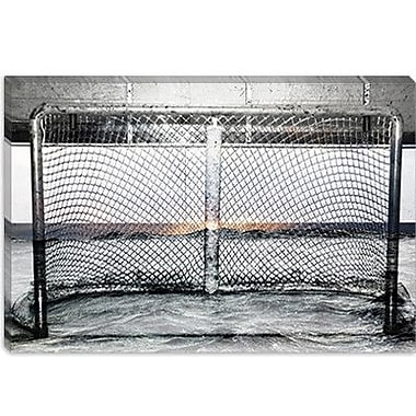 iCanvas Canada Hockey Goal Gate #2 Photographic Print on Canvas; 26'' H x 40'' W x 0.75'' D
