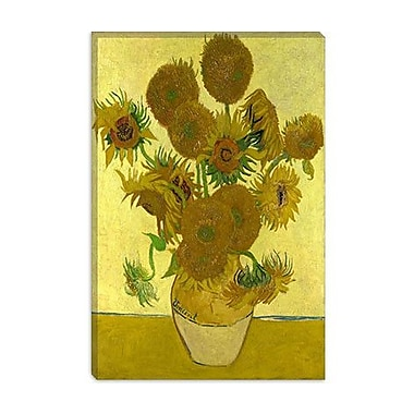 iCanvas 'Sunflowers' by Vincent Van Gogh Painting Print on Canvas; 40'' H x 26'' W x 0.75'' D