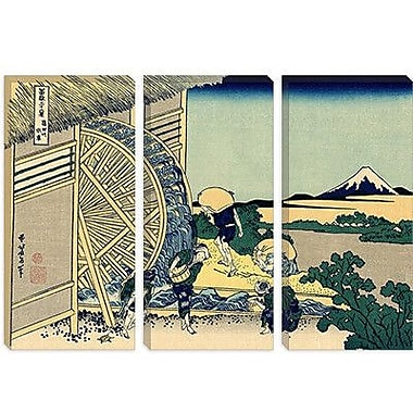 iCanvas 'Watermill at Onden' by Katsushika Hokusai Painting Print on Wrapped Canvas