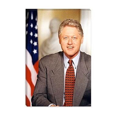 iCanvas Political Bill Clinton Portrait Photographic Print on Canvas; 18'' H x 12'' W x 1.5'' D