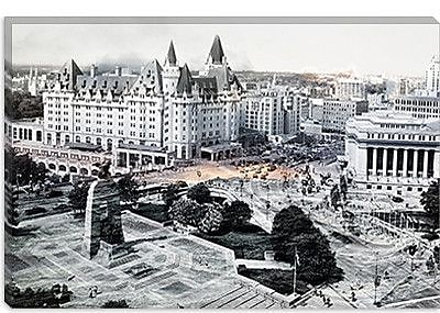 iCanvas Canada Ottawa Centre Ville Photographic Print on Canvas; 40'' H x 60'' W x 1.5'' D