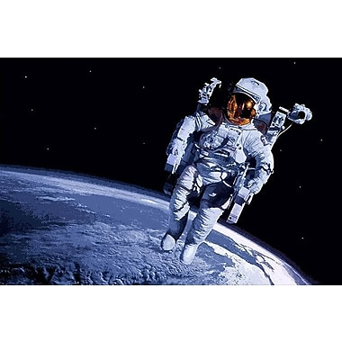 iCanvas Astronomy and Spaceman Photographic Print on Wrapped Canvas; 18'' H x 26'' W x 0.75'' D