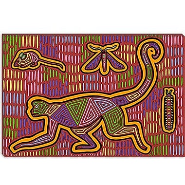 iCanvas 'M Monkey' by Willow Bascom Graphic Art on Canvas; 8'' H x 12'' W x 0.75'' D