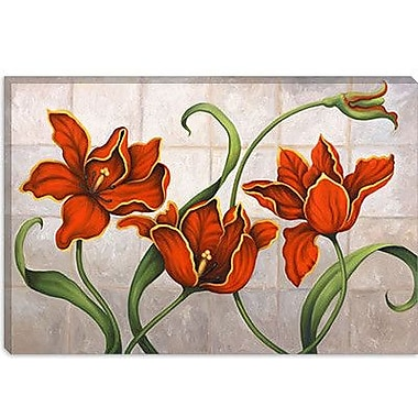 iCanvas 'Parrot Tulips' by John Zaccheo Painting Print on Canvas; 8'' H x 12'' W x 0.75'' D