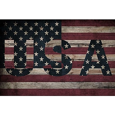 iCanvas Flags U.S.A. Stars Board Graphic Art on Wrapped Canvas; 18'' H x 26'' W x 0.75'' D