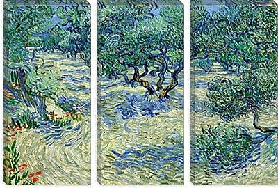 iCanvas 'Olive Orchard' by Vincent van Gogh Painting Print on Canvas; 18'' H x 26'' W x 0.75'' D