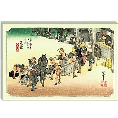 iCanvas 'Fujieda' by Utagawa Hiroshige Painting Print on Canvas; 12'' H x 18'' W x 1.5'' D