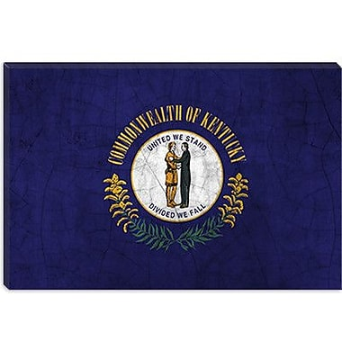 iCanvas Kentucky Flag, Cracks Graphic Art on Canvas; 18'' H x 26'' W x 1.5'' D