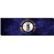 iCanvas Kentucky Flag, Cracks w/ Grunge Panoramic Graphic Art on Canvas; 12'' H x 36'' W x 1.5'' D