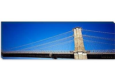 iCanvas Panoramic Brooklyn Bridge, New York City Photographic Print on Canvas