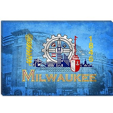iCanvas Milwaukee Flag, Miller Park Graphic Art on Canvas; 8'' H x 12'' W x 0.75'' D