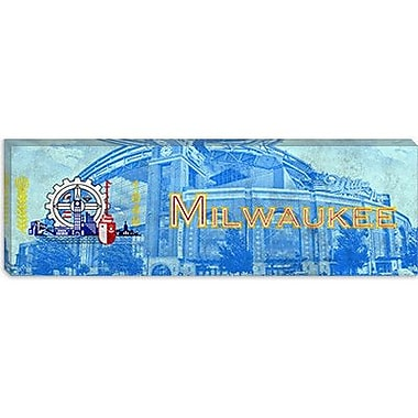 iCanvas Milwaukee Flag, Miller Park Panoramic Graphic Art on Canvas; 12'' H x 36'' W x 0.75'' D