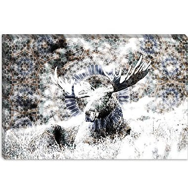 iCanvas Male Canadian Moose #2 Graphic Art on Canvas; 12'' H x 18'' W x 0.75'' D