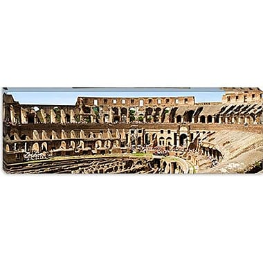 iCanvas Panoramic Amphitheater, Colosseum, Rome, Lazio, Italy Photographic Print on Canvas