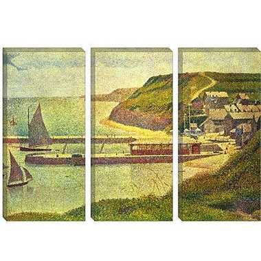 iCanvas 'Port-en-Bessin 1888' by Georges Seurat Painting Print on Canvas; 40'' H x 60'' W x 1.5'' D
