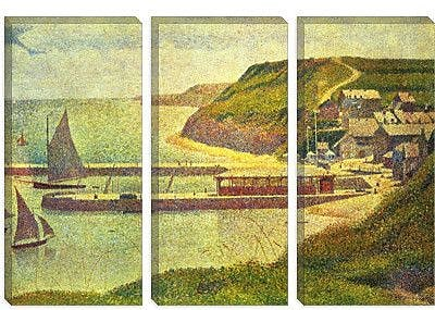 iCanvas 'Port-en-Bessin 1888' by Georges Seurat Painting Print on Canvas; 18'' H x 26'' W x 1.5'' D