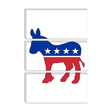 iCanvas Political Democratic Party Donkey Symbol Graphic Art on Canvas; 40'' H x 26'' W x 0.75'' D