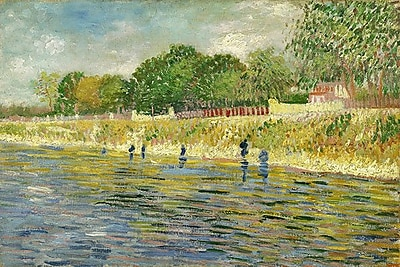 iCanvas 'The Banks of the Seine' by Vincent Van Gogh Painting Print on Wrapped Canvas