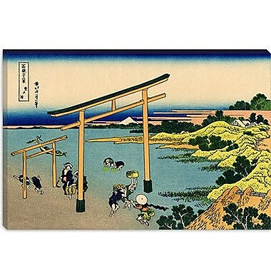iCanvas 'Bay of Noboto' by Katsushika Hokusai Painting Print on Canvas; 26'' H x 40'' W x 0.75'' D