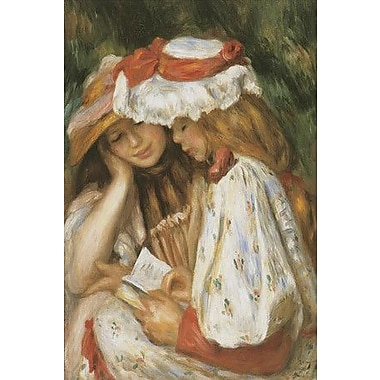 iCanvas 'Two Girls Reading' by Claude Monet Painting Print on Canvas; 12'' H x 8'' W x 0.75'' D