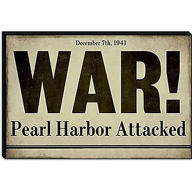 iCanvas Color Bakery 'Pearl Harbor' Textual Art on Canvas; 26'' H x 40'' W x 1.5'' D