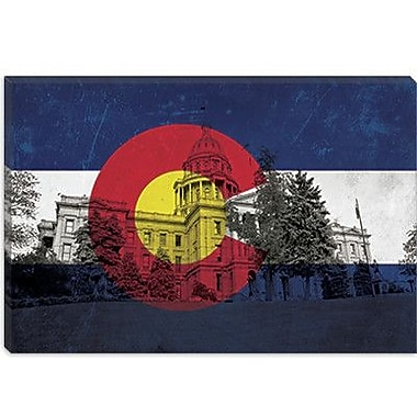iCanvas Colorado Flag, State Capitol Graphic Art on Canvas; 26'' H x 40'' W x 1.5'' D